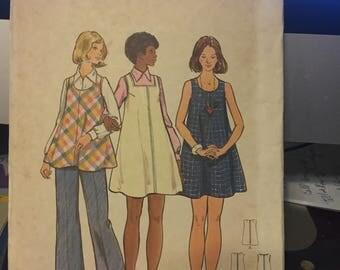 Vintage Butterick pattern 3057 - misses' maternity dress, jumper, tunic and pants - uncut - size 14