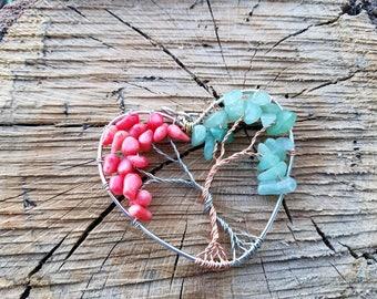 Heart Tree Top Pendant