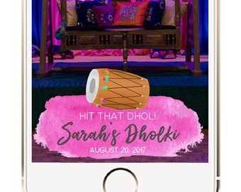 Dholki Snapchat Geofilter, Sangeet Geofilter, Dholki Filter, Mehndi Snapchat Geofilter, Indian Mehendi Dholki Sangeet Jaggo Snapchat Filter