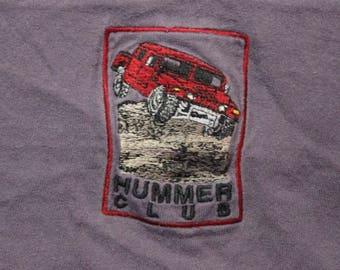 Vintage Hummer Club Humvee H1 80s 90s Embroidered Logo Shirt Size Large