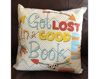 Get Lost in a Good Book Pillow