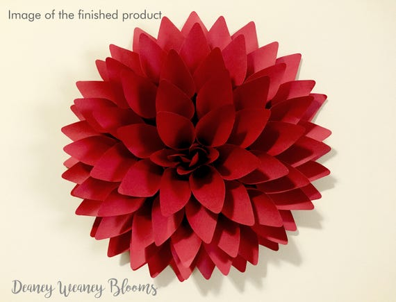 12 In Dahlia Paper Flower Svg And Pdf Template Backdrop