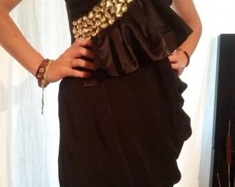 Evening dress shape black color bustier