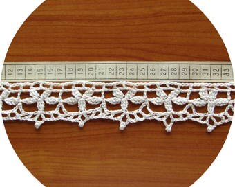 Ribbon Lace, Edging-hand crocheted, custom colour, length - for order