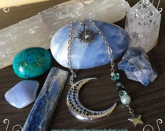 Moon, Stars and Sun planner or purse charm