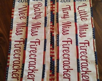 Embroidered Themed Pageant Sash