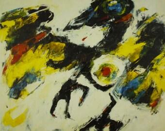 "Charlotte Molenkamp, ""Vogel"" – hand gesigneerde zeefdruk (oplage 150 )"