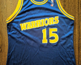 Latrell Sprewell Vintage Champion Jersey 48 Golden State Warriors 90s NBA