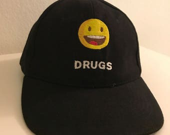 DRUGS - baseball cap / dad hat - embroidery