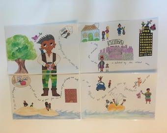 Roald Dahl | Placemats | Storybook | Willy Wonka | BFG | James and the Giant Peach | Fantastic Mr. Fox | Matilda | Storytelling | Decor