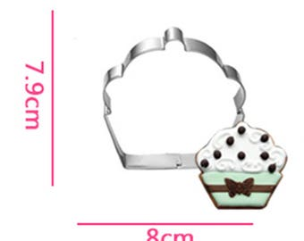 Cup Cake Cookie Cutter- Fondant Biscuit Mold - Pastry Baking Tool Set