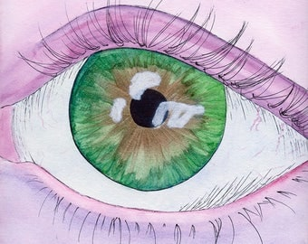 Eye Watercolor Painting Digital Download Print