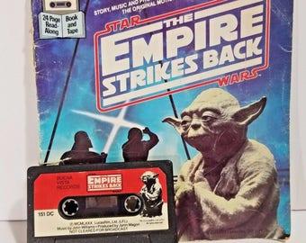 Vintage Star Wars The Empire Strikes Back Kids Tape Book Set 1980