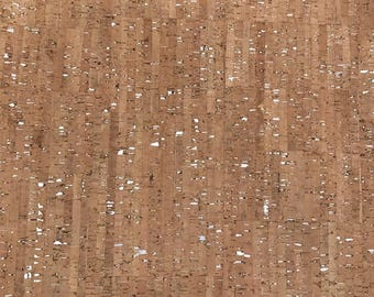 Cork Fabric - Natural Cork - Natural Cork with Silver Flecks - EcoFriendly