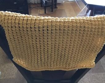 100% hand knit reversible kitchen towel