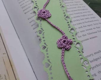 Beautiful crocheted detail bookmark!