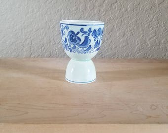 VIntage Porcelain Blue Egg Cup