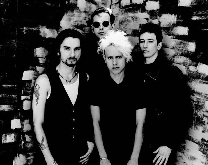 Framed Depeche Mode Print 11x17 Black Slim