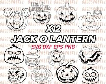 jack o lantern svg, halloween svg, halloween lantern svg, stencil, decal, vinyl, clipart, png, dxf, eps, silhouette, line art