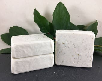 Unscented Oatmeal Vegan Cold Process Bar Soap
