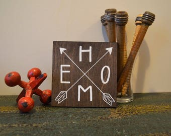 Home Arrow Mini-Sign