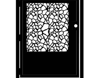 Decorative Steel Giraffe Gate - Animal Print Metal Art - Giraffe Hide - Steel Giraffe Art - Outdoor Giraffe Gate - Animal Print Entry Gate