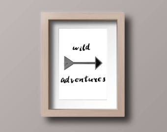 Wild Adventures A4 Print