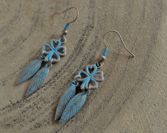 Blue Patina DQ earring