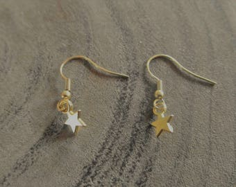 Golden stars earrings