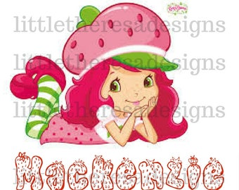 Strawberry Shortcake Birthday Transfer,Digital Transfer,Digital Iron On,Diy