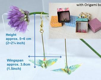 Forever Peace Origami Crane Earrings