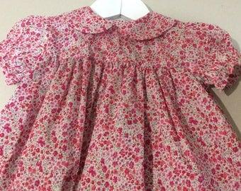 Little Girls Liberty puff sleeved dress