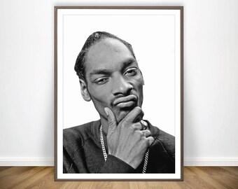 Snoop Dogg Print Hip Hop Wall Art Snoop Dogg Poster Snoop Doggy Dogg Hip Hop 90s Hip Hop Lyrics Snoop Dog Rapper Snoop Dogg Art Rapper Print