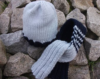 scarf and hat matching boy 2-3 years