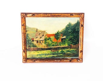 Oil painting / french landscape / XX