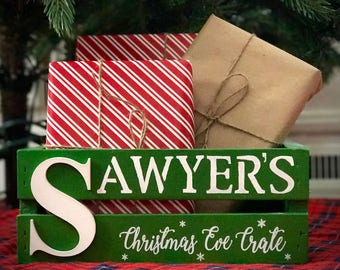 Personalized Christmas Eve 1/2 Crates