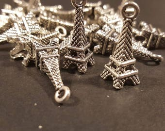 Antiqued Silver Eiffel Tower Charms