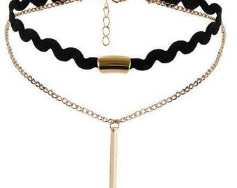 Two Strand Choker with Pendant//BUY 2 Chokers Get 1 FREE Gothic Choker