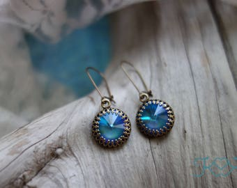Ultra Blue Swarovski Crystal Earrings