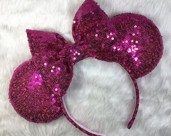 Bright Pink Sparkle Mouse Ears