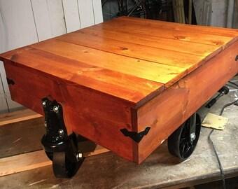 Industrial Cart Rustic Coffee Table (HD)