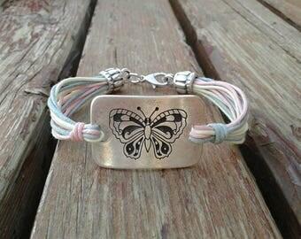 Butterfly bracelet vegan jewelry