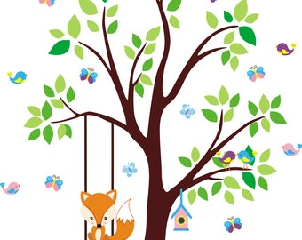 Forest Wall Decals   Wall Decals Nursery   Woodland Animal Wall Stickers    Peel And Stick Part 42