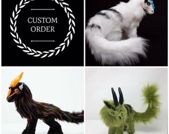 CUSTOM ORDER - made to order poseable art doll Bucks