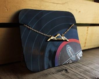Vinyl Mountain necklace