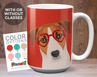 Jack Russell Terrier Mug   Dog Coffee Mug   Girlfriend Gift   Pet Mug   Wife Gift   Coworker Gift   Gift For Dog Owner   Dog Coffee Cup