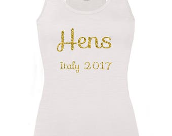 Personalised Hens Hen Party Vest Top
