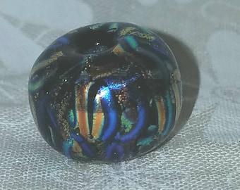 Vic's Glass Creations - Streamers - handmade lampwork focal bead - SRA