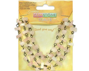 "Expo Rose Quartz Chain with Chips - 18"" Strand"
