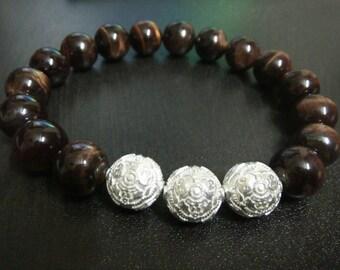 Brown Tiger Eye Men's Bracelet